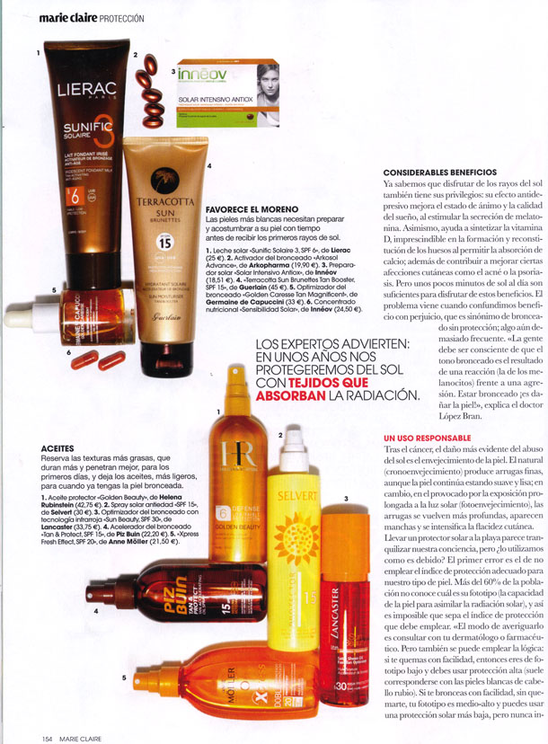 TAN MAGNIFICENT ( MARIE CLAIRE ) 01/06/2012