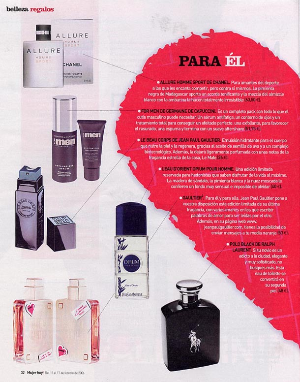 For Men ( Mujer Hoy ) 01/02/2006