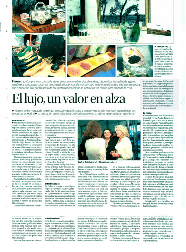 LUXURI SPAIN GERMAINE ( LA OPINION DE MURCIA ) 17/06/2012