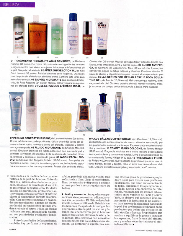 FOR MEN ( EL PAÍS SEMANAL. DOMINICAL ) 01/03/2004