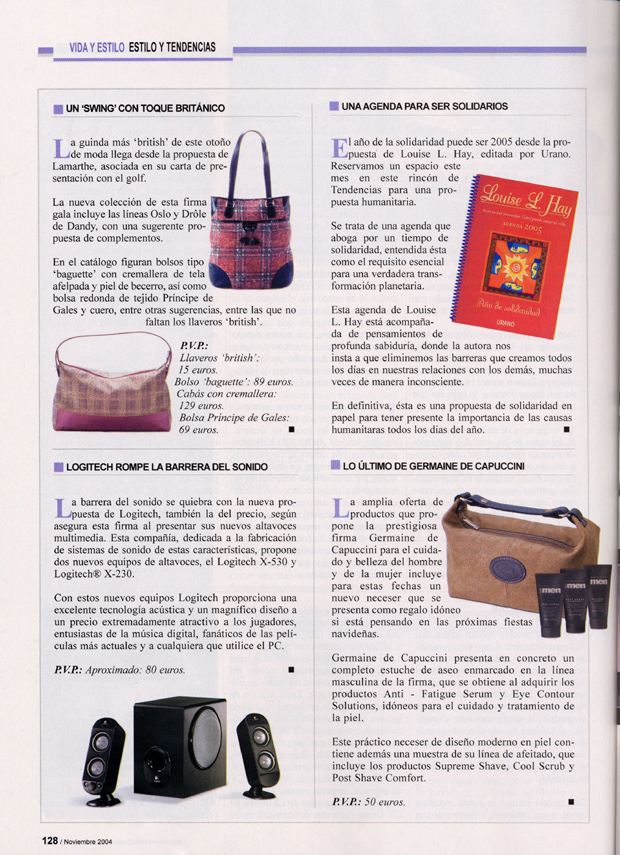 NECESER FOR MEN ( AGENDA DE LA EMPRESA ) 01/12/2004