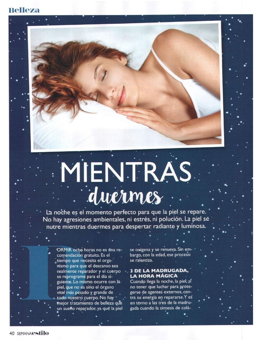 20160601 RevistaSemana_Sleeping-Cure