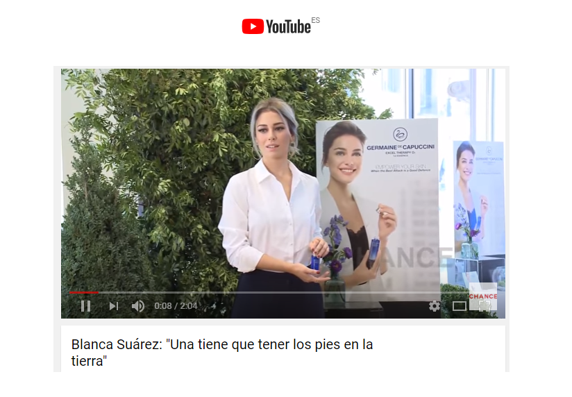 ChanceYouTubeBlancaSuarez